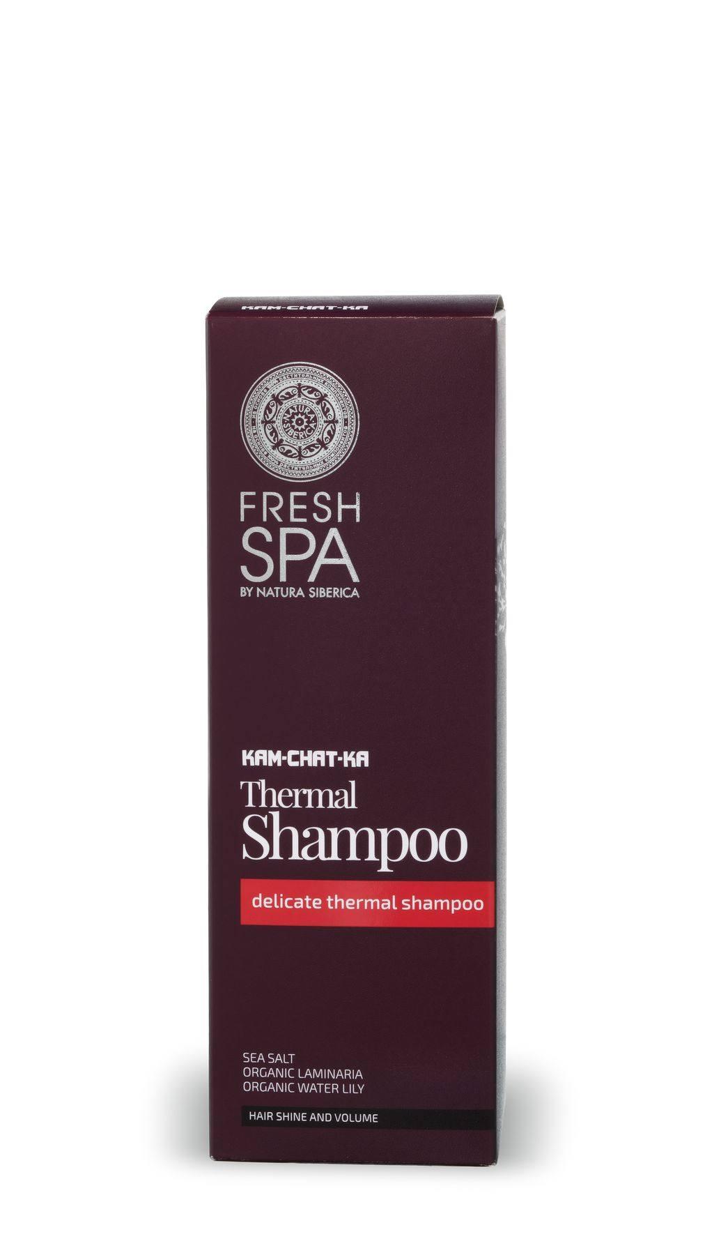 NS Fresh Spa Kam-Chat-Ka Мягкий термальный шампунь для объема и блеска волос, 300 мл
